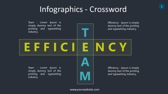 Infographics – Crossword PowerPoint Infographics