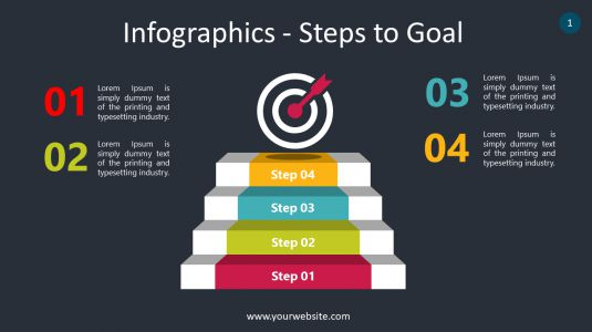 Infographics – Steps to Goal PowerPoint Infographics