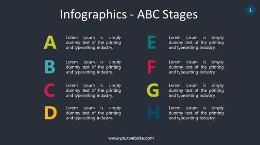Infographics – ABC Stages PowerPoint Infographics
