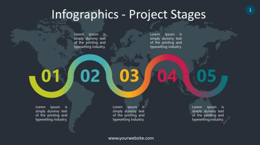 Infographics – Project Stages PowerPoint Infographics