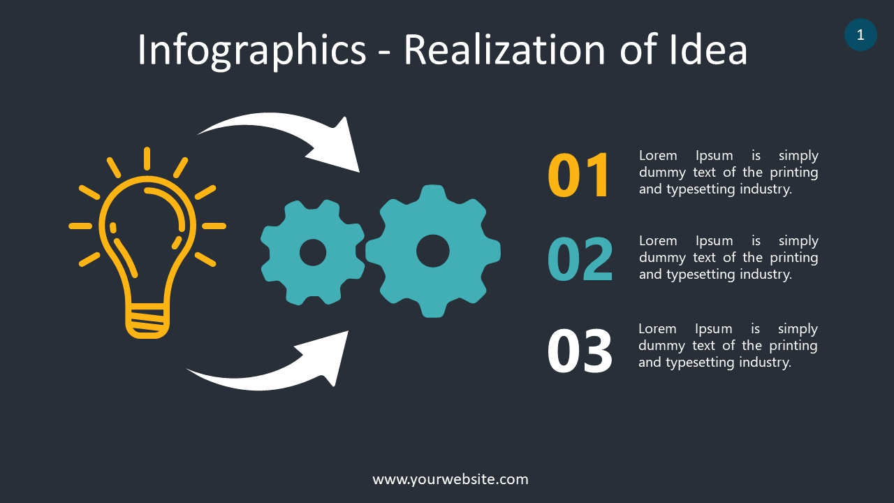 Infographics – Realization of Idea  PowerPoint Infographics
