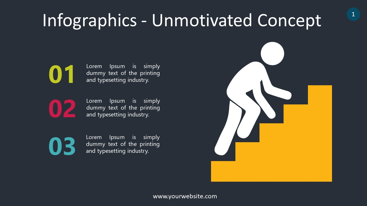 Infographics – Unmotivated Concept  PowerPoint Infographics