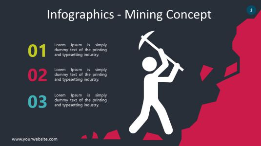 Infographics – Mining Concept PowerPoint Infographics