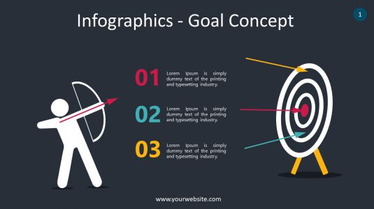 Infographics – Goal Concept PowerPoint Infographics
