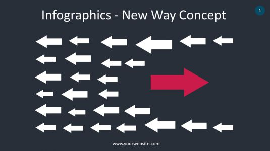 Infographics – New Way Concept PowerPoint Infographics