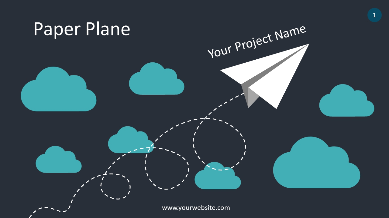 Infographics – Paper Plane PowerPoint Infographics