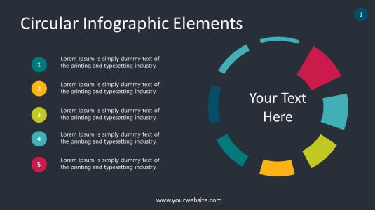 Circular Infographic Elements PowerPoint Infographics