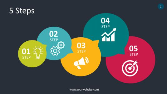 5 Steps PowerPoint Infographics