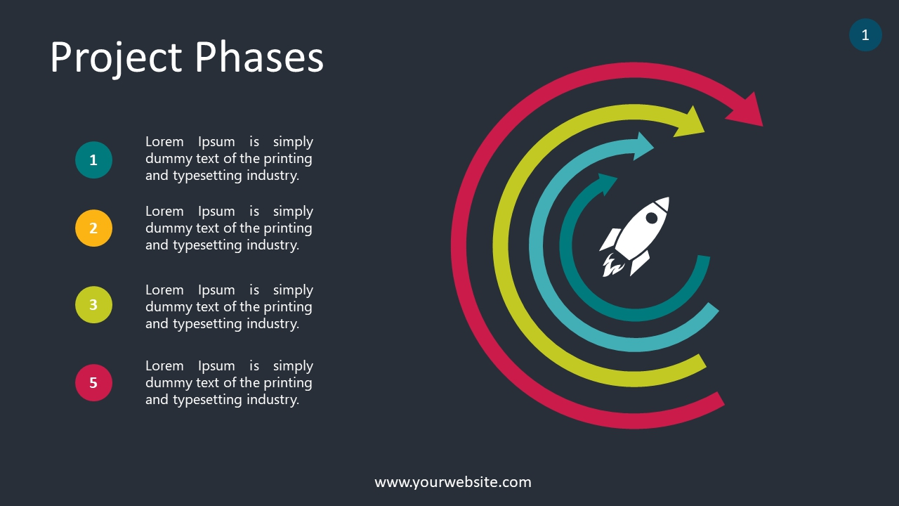 Project Phases PowerPoint Infographics