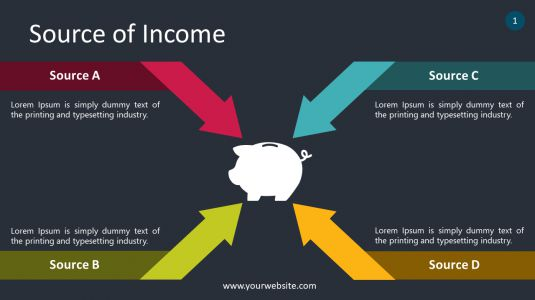 Source of Income PowerPoint Infographics