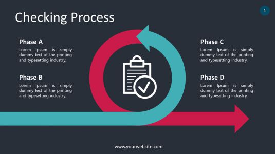 Checking Process PowerPoint Infographics