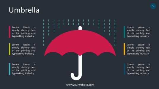 Umbrella PowerPoint Infographics