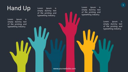 Hand Up PowerPoint Infographics
