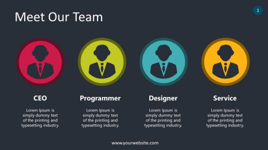 Meet Our Team PowerPoint Infographics