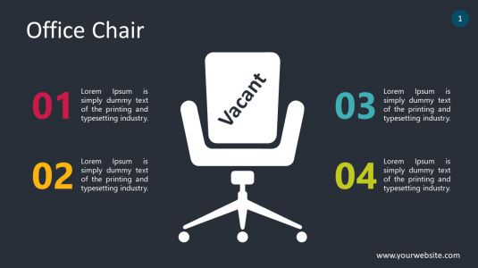 Office Chair PowerPoint Infographics