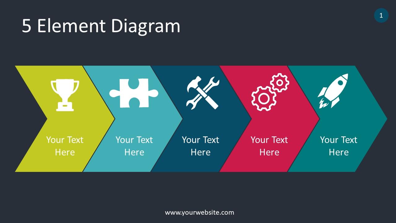 5 Element Diagram PowerPoint Infographics