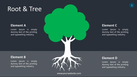 Root & Tree PowerPoint Infographics