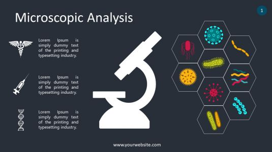 Microscopic Analysis PowerPoint Infographics