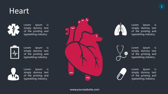 Heart PowerPoint Infographics