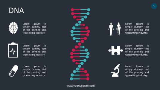 DNA PowerPoint Infographics