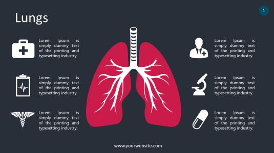 Lungs PowerPoint Infographics