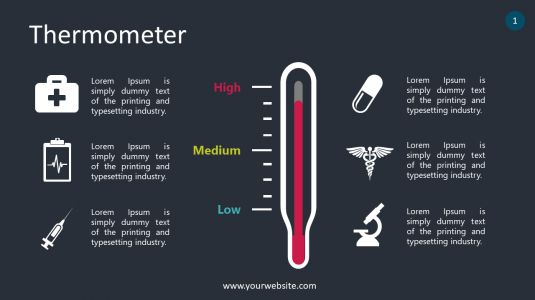 Thermometer - High & Low Risk PowerPoint Infographics