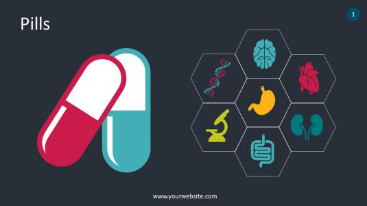 Pills PowerPoint Infographics