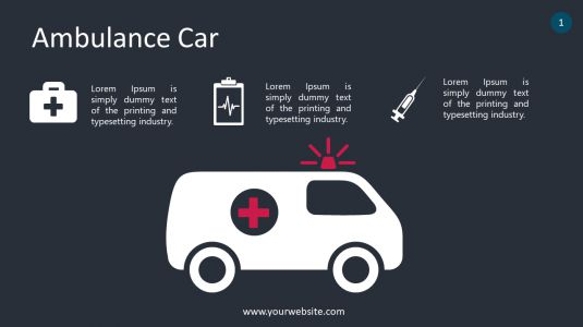 Ambulance Car PowerPoint Infographics