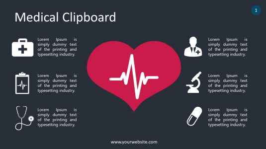 Medical Clipboard PowerPoint Infographics