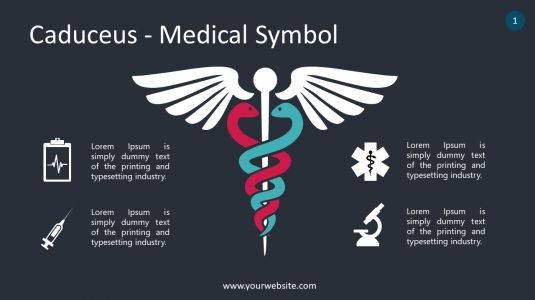 Caduceus - Medical Symbol PowerPoint Infographics