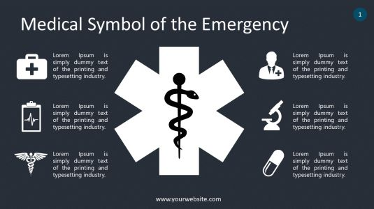 Medical Symbol of the Emergency PowerPoint Infographics