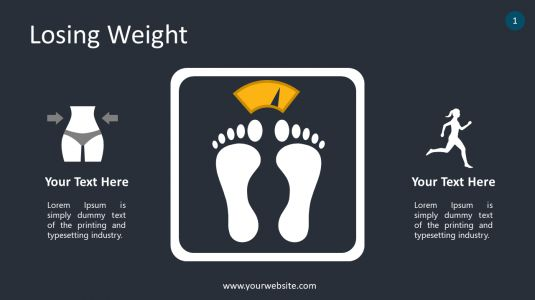 Losing Weight PowerPoint Infographics