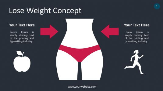 Lose Weight Concept PowerPoint Infographics