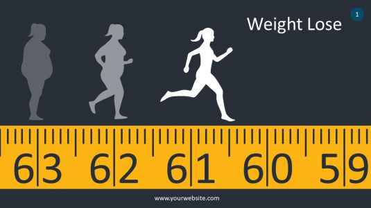 Weight Lose PowerPoint Infographics