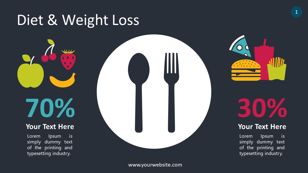 Diet & Weight Loss PowerPoint Infographics