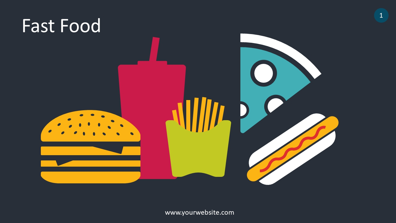 Fast Food PowerPoint Infographics