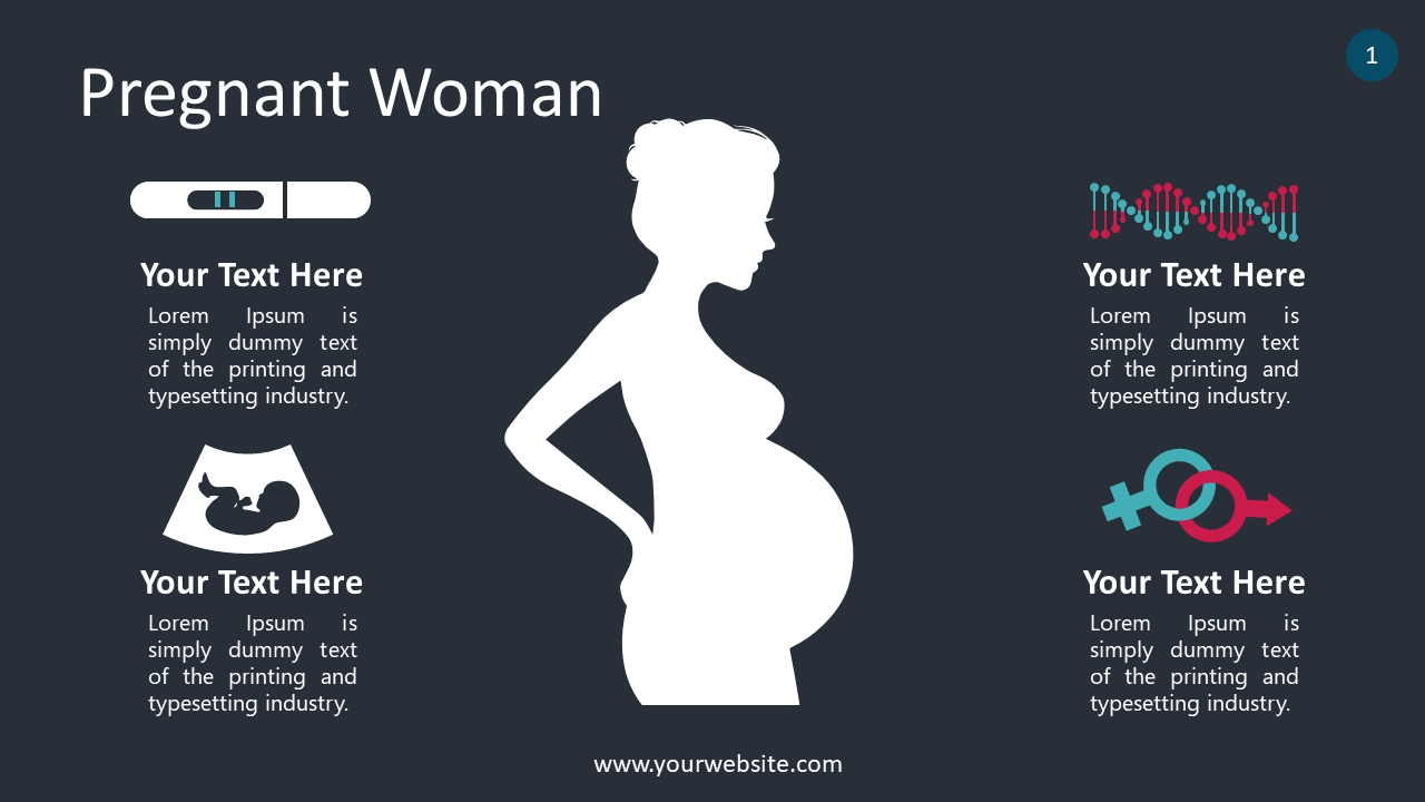 Pregnant Woman PowerPoint Infographics