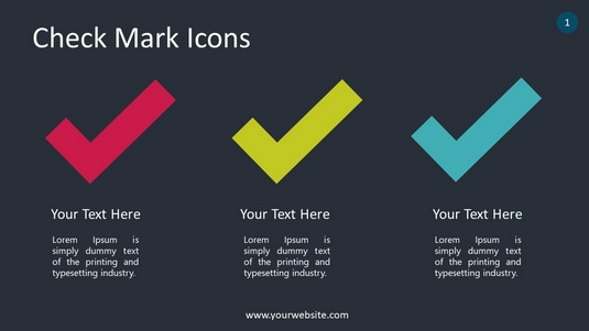 Check Mark Icons PowerPoint Infographics