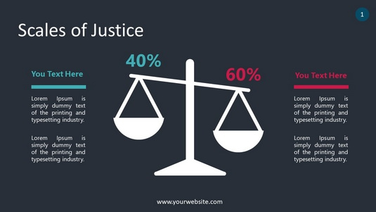 Scales of Justice PowerPoint Infographics
