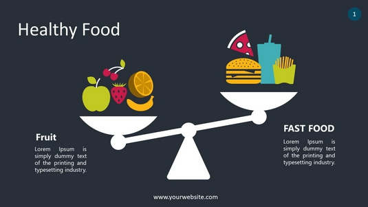 Healthy Food PowerPoint Infographics