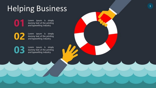 Helping Business PowerPoint Infographics