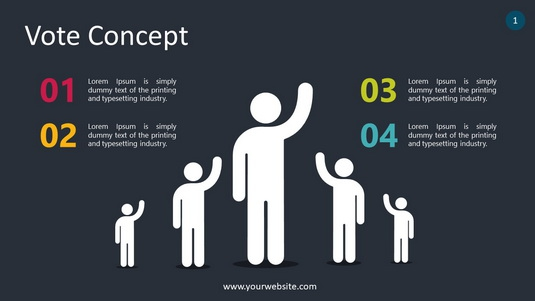 Vote Concept PowerPoint Infographics