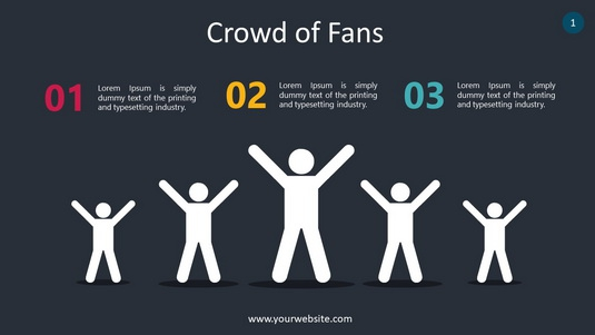 Crowd Of Fans PowerPoint Infographics