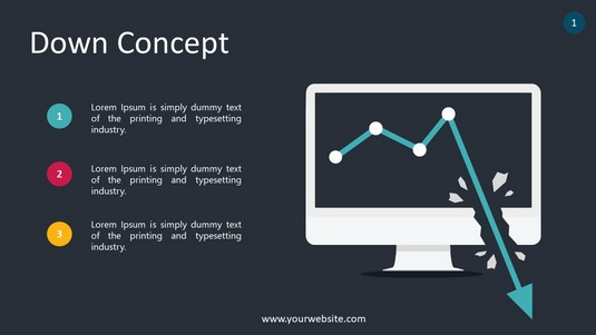 Down Concept PowerPoint Infographics