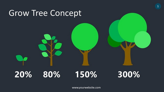 Grow Tree Concept PowerPoint Infographics