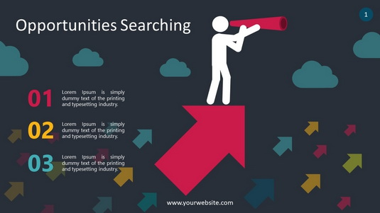 Opportunities Search PowerPoint Infographics