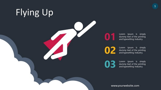 Flying Up PowerPoint Infographics