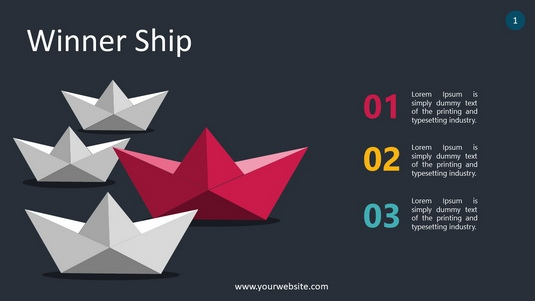Winner Ship PowerPoint Infographics