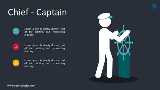 Chief Captain PowerPoint Infographics