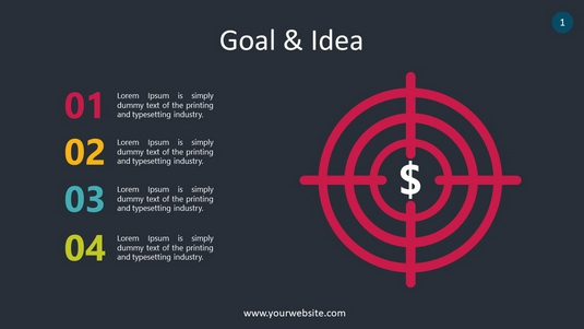 Goal & Idea PowerPoint Infographics
